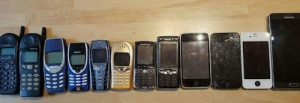 various mobile phones